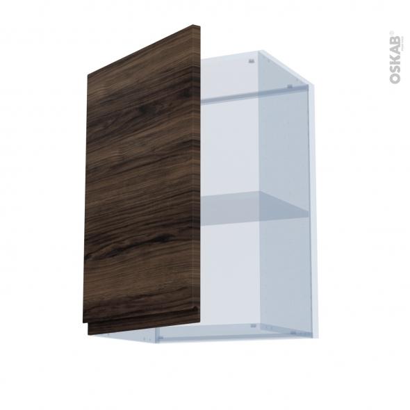IPOMA Noyer - Kit Rénovation 18 - Meuble haut ouvrant H70  - 1 porte - L50xH70xP37,5