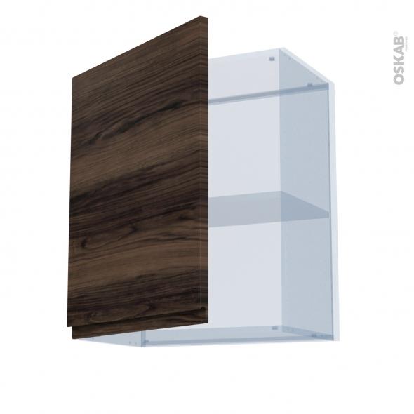 IPOMA Noyer - Kit Rénovation 18 - Meuble haut ouvrant H70  - 1 porte - L60xH70xP37,5