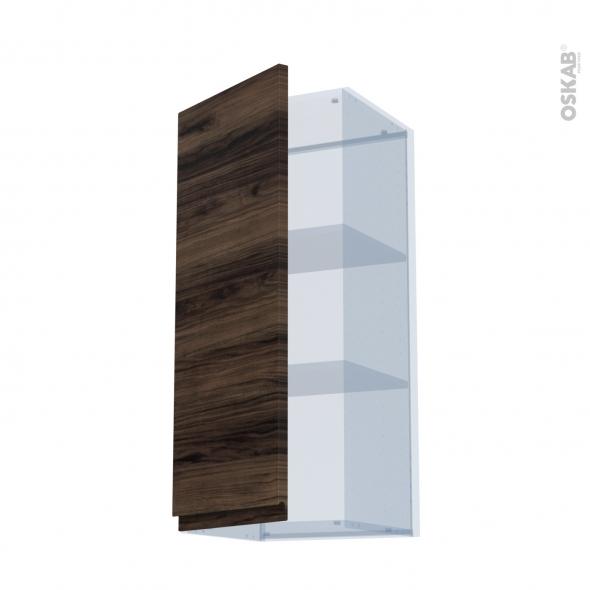 IPOMA Noyer - Kit Rénovation 18 - Meuble haut ouvrant H92  - 1 porte - L40xH92xP37,5