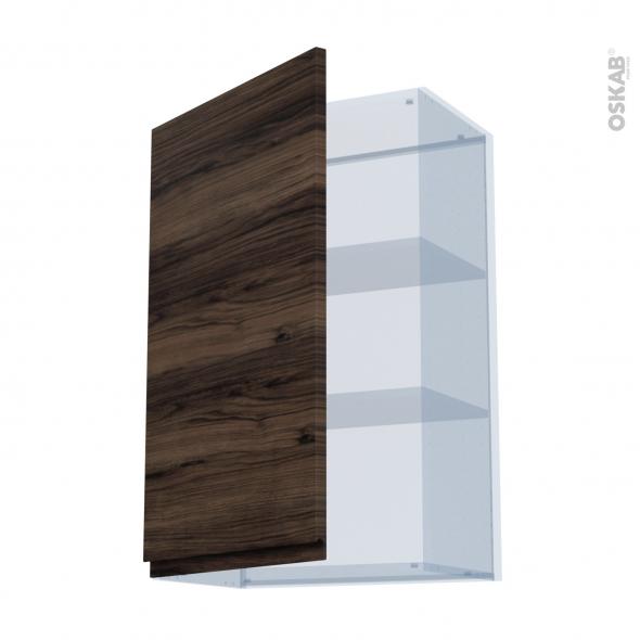 IPOMA Noyer - Kit Rénovation 18 - Meuble haut ouvrant H92  - 1 porte - L60xH92xP37,5
