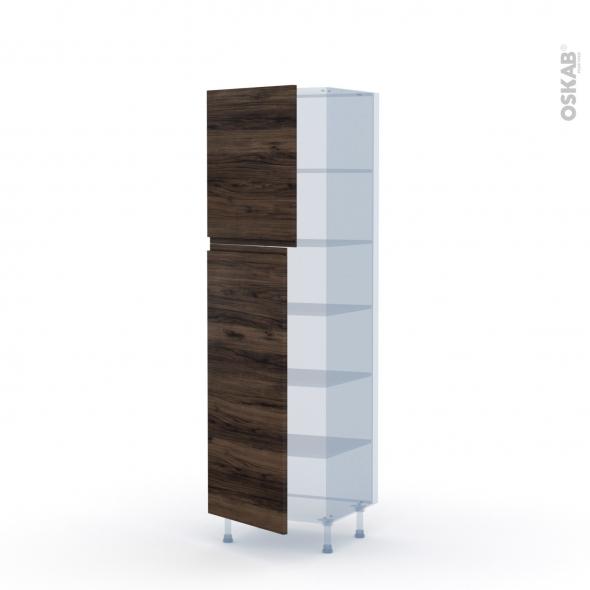 IPOMA Noyer - Kit Rénovation 18 - Armoire étagère N°2721  - 2 portes - L60xH195xP60