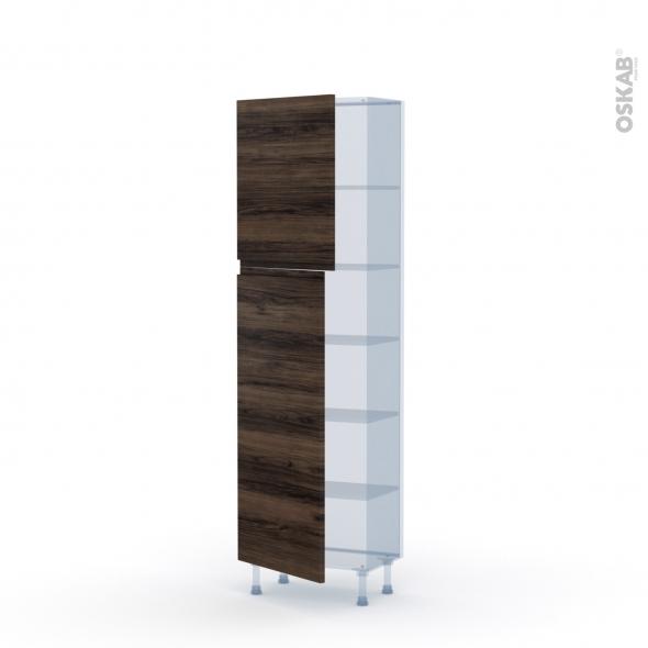 IPOMA Noyer - Kit Rénovation 18 - Armoire étagère N°2127   - Prof.37  2 portes - L60xH195xP37,5