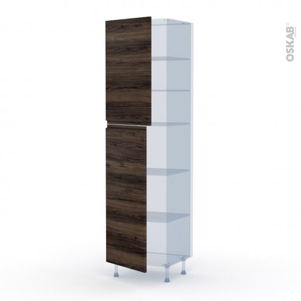 IPOMA Noyer - Kit Rénovation 18 - Armoire étagère N°2427  - 2 portes - L60xH217xP60