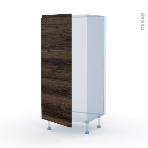 IPOMA Noyer - Kit Rénovation 18 - Armoire frigo N°27  - 1 porte - L60xH125xP60