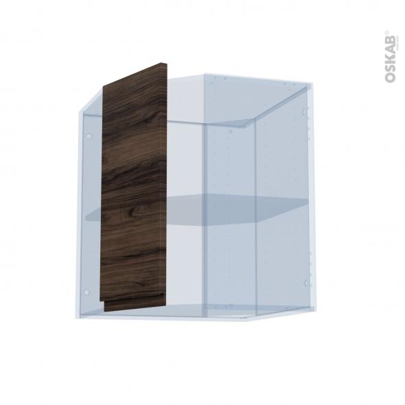IPOMA Noyer - Kit Rénovation 18 - Meuble angle haut - 1 porte N°77 L32 - L60xH70xP37,5