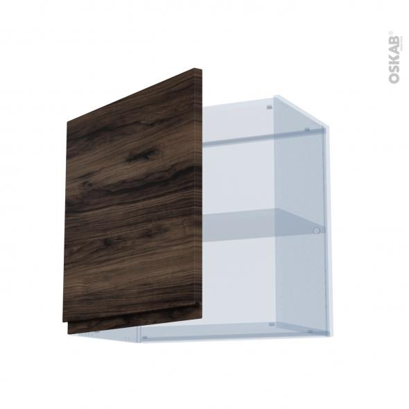IPOMA Noyer - Kit Rénovation 18 - Meuble haut ouvrant H57 - 1 porte - L60xH57xP37,5