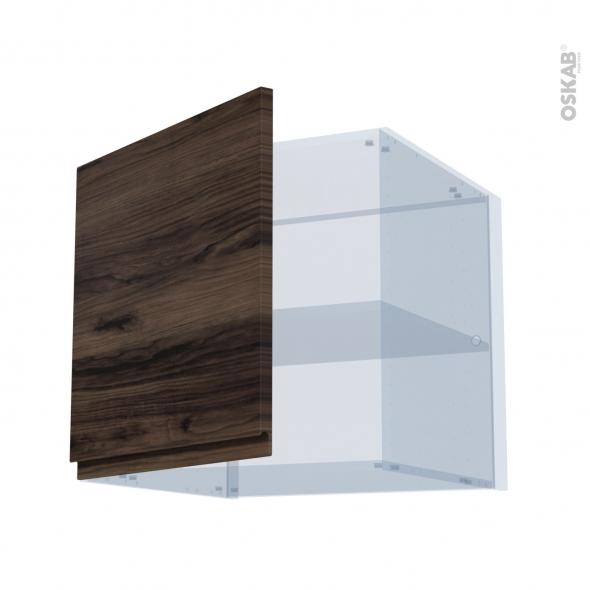 IPOMA Noyer - Kit Rénovation 18 - Meuble haut ouvrant H57 - 1 porte - L60xH57xP60