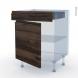 IPOMA Noyer - Kit Rénovation 18 - Meuble bas cuisine  - 1 porte 1 tiroir - L60xH70xP60
