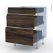 IPOMA Noyer - Kit Rénovation 18 - Meuble casserolier  - 3 tiroirs - L60xH70xP60