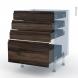 IPOMA Noyer - Kit Rénovation 18 - Meuble casserolier  - 4 tiroirs - L60xH70xP60