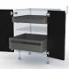 IPOMA Noyer - Kit Rénovation 18 - Meuble bas - 2 portes - 2 tiroirs ? l'anglaise - L60xH70xP60