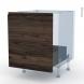 IPOMA Noyer - Kit Rénovation 18 - Meuble sous-évier  - 1 porte coulissante - L60xH70xP60