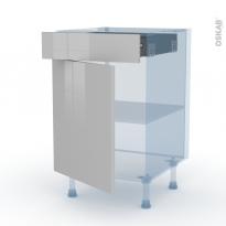 IVIA Gris - Kit Rénovation 18 - Meuble bas cuisine  - 1 porte 1 tiroir - L50xH70xP60