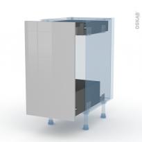 IVIA Gris - Kit Rénovation 18 - Meuble bas coulissant  - 1 porte-1 tiroir anglaise - L40xH70xP60