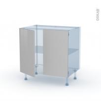 IVIA Gris - Kit Rénovation 18 - Meuble sous-évier  - 2 portes - L80xH70xP60