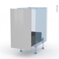 IVIA Gris - Kit Rénovation 18 - Meuble sous-évier  - 1 porte coulissante - L40xH70xP60