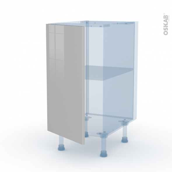 IVIA Gris - Kit Rénovation 18 - Meuble bas cuisine  - 1 porte - L40xH70xP60