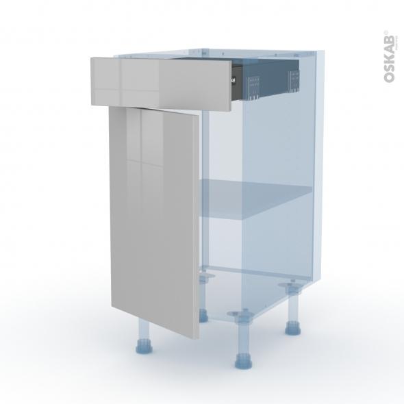 IVIA Gris - Kit Rénovation 18 - Meuble bas cuisine  - 1 porte 1 tiroir - L40xH70xP60