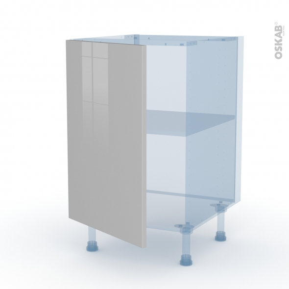 IVIA Gris - Kit Rénovation 18 - Meuble sous-évier  - 1 porte - L50xH70xP60
