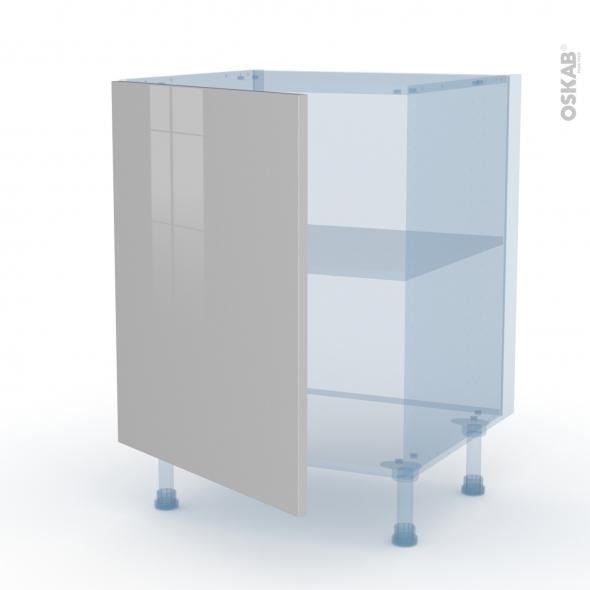 IVIA Gris - Kit Rénovation 18 - Meuble sous-évier  - 1 porte - L60xH70xP60