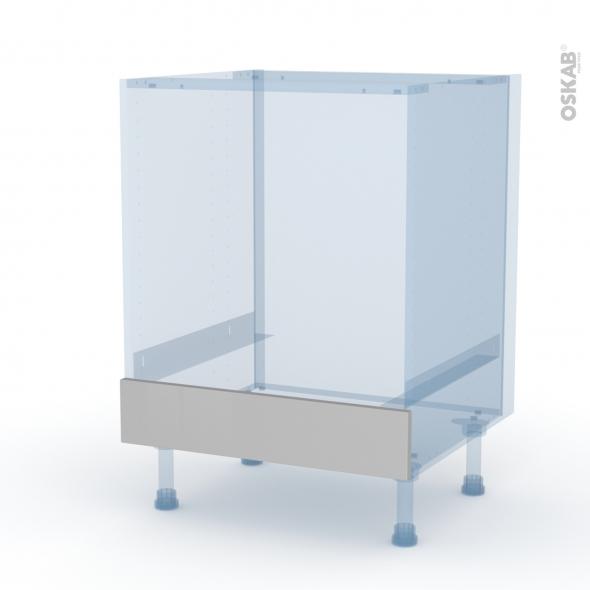 IVIA Gris - Kit Rénovation 18 - Meuble bas four  - bandeau bas - L60xH70xP60