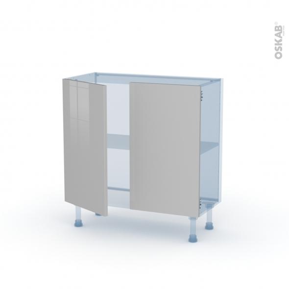 IVIA Gris - Kit Rénovation 18 - Meuble bas prof.37  - 2 portes - L80xH70xP37,5