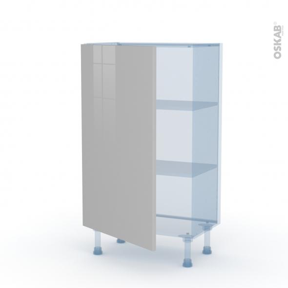 IVIA Gris - Kit Rénovation 18 - Meuble bas prof.37  - 1 porte - L60xH92xP37,5