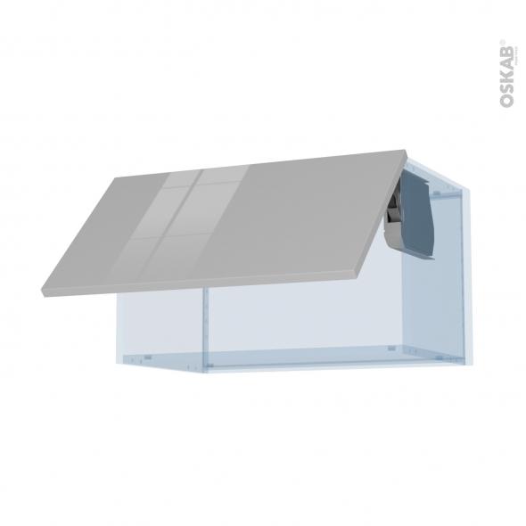 IVIA Gris - Kit Rénovation 18 - Meuble haut abattant H35  - 1 porte - L60xH35xP37,5