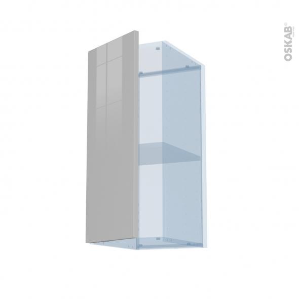 IVIA Gris - Kit Rénovation 18 - Meuble haut ouvrant H70  - 1 porte - L30xH70xP37,5