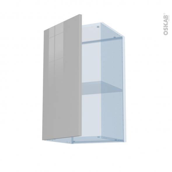 IVIA Gris - Kit Rénovation 18 - Meuble haut ouvrant H70  - 1 porte - L40xH70xP37,5