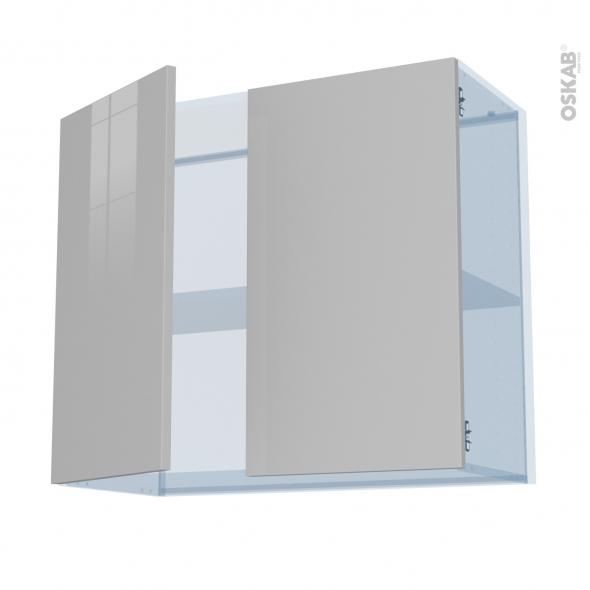 IVIA Gris - Kit Rénovation 18 - Meuble haut ouvrant H70  - 2 portes - L80xH70xP37,5