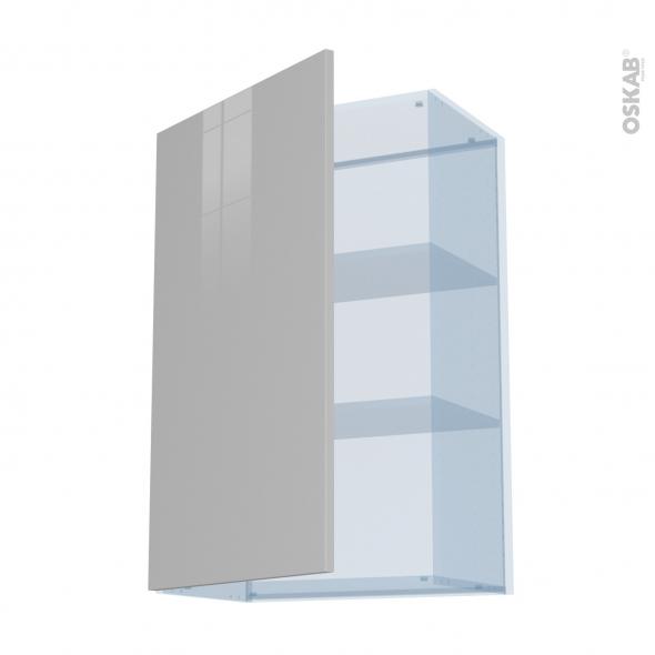 IVIA Gris - Kit Rénovation 18 - Meuble haut ouvrant H92  - 1 porte - L60xH92xP37,5