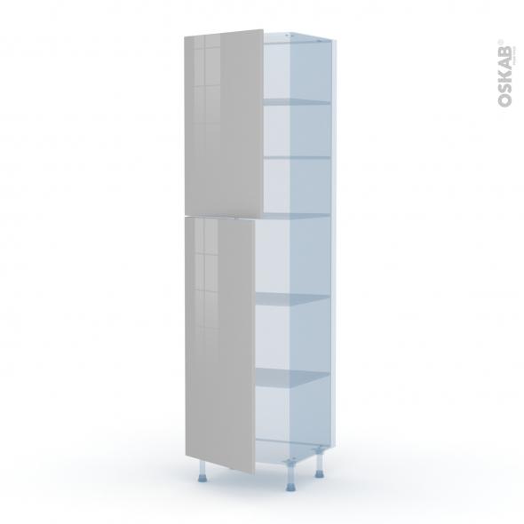 IVIA Gris - Kit Rénovation 18 - Armoire étagère N°2427  - 2 portes - L60xH217xP60