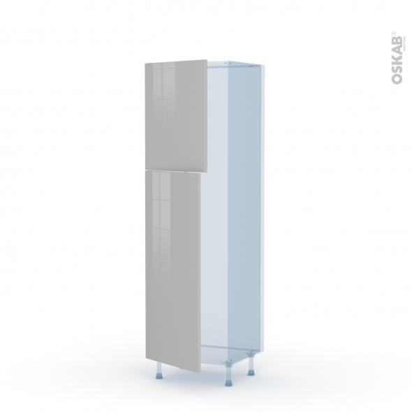 IVIA Gris - Kit Rénovation 18 - Armoire frigo N°2721  - 2 portes - L60xH195xP60