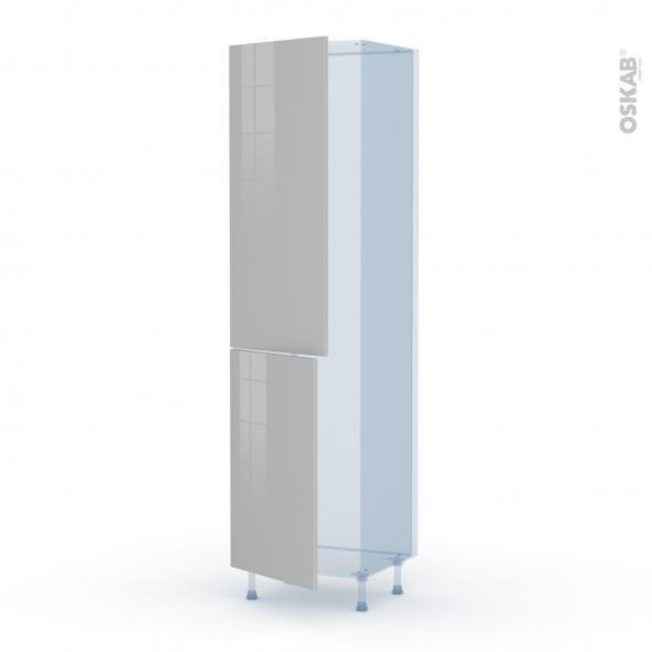 IVIA Gris - Kit Rénovation 18 - Armoire frigo N°2724  - 2 portes - L60xH217xP60