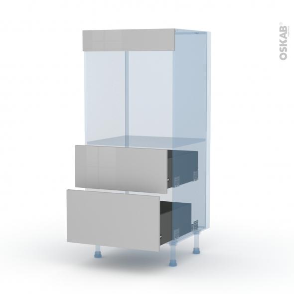 IVIA Gris - Kit Rénovation 18 - Colonne Four N°58  - 2 casseroliers - L60xH125xP60