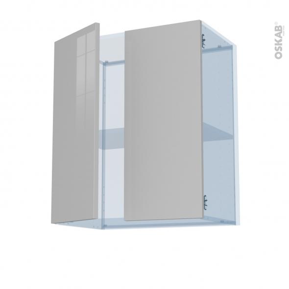 IVIA Gris - Kit Rénovation 18 - Meuble haut ouvrant H70 - 2 portes - L60xH70xP37,5