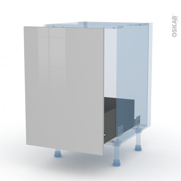 IVIA Gris - Kit Rénovation 18 - Meuble sous-évier  - 1 porte coulissante - L50xH70xP60