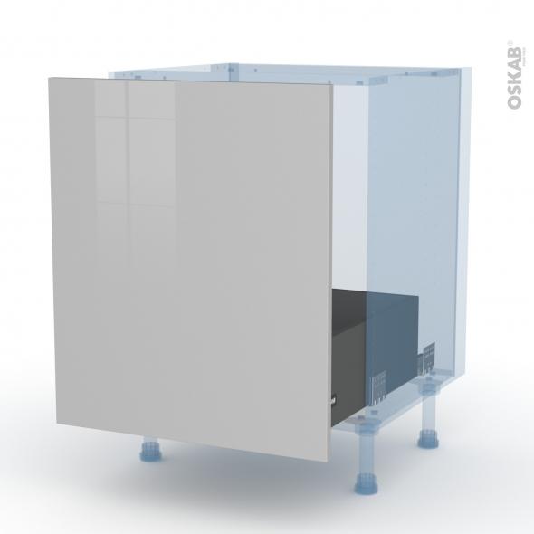 IVIA Gris - Kit Rénovation 18 - Meuble sous-évier  - 1 porte coulissante - L60xH70xP60