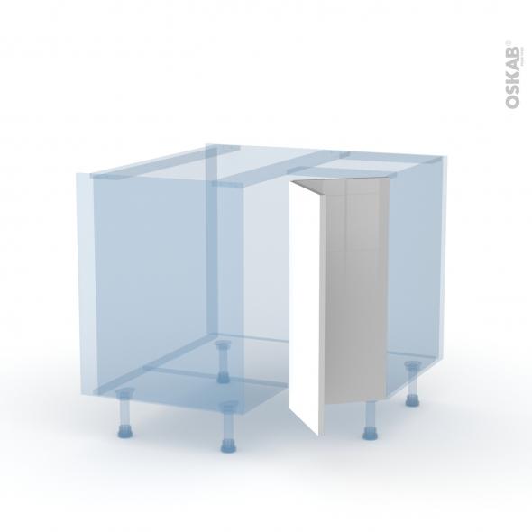 IVIA Gris - Kit Rénovation 18 - Meuble angle bas - 2 portes N°76 L30 - L90xH70xP60