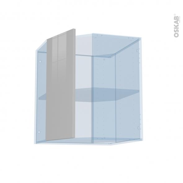IVIA Gris - Kit Rénovation 18 - Meuble angle haut - 1 porte N°77 L32 - L60xH70xP37,5