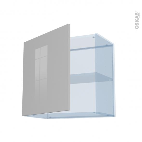 IVIA Gris - Kit Rénovation 18 - Meuble haut ouvrant H57 - 1 porte - L60xH57xP37,5