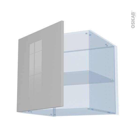 IVIA Gris - Kit Rénovation 18 - Meuble haut ouvrant H57 - 1 porte - L60xH57xP60