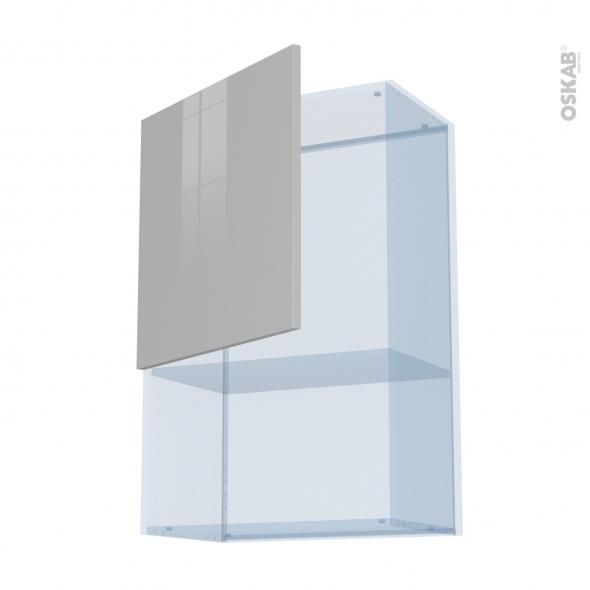 IVIA Gris - Kit Rénovation 18 - Meuble haut MO niche 36/38  - 1 porte - L60xH92xP37,5
