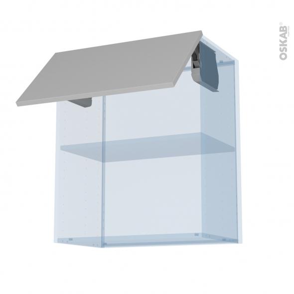 IVIA Gris - Kit Rénovation 18 - Meuble haut MO niche 36/38  - 1 porte - L60xH70xP37,5