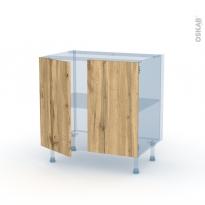 OKA Chêne - Kit Rénovation 18 - Meuble bas cuisine  - 2 portes - L80xH70xP60