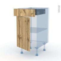 OKA Chêne - Kit Rénovation 18 - Meuble bas cuisine  - 1 porte 1 tiroir - L40xH70xP60