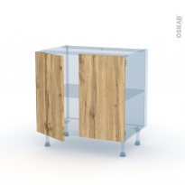 OKA Chêne - Kit Rénovation 18 - Meuble sous-évier  - 2 portes - L80xH70xP60