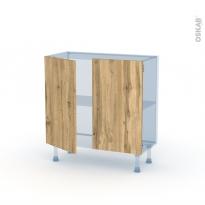 OKA Chêne - Kit Rénovation 18 - Meuble bas prof.37  - 2 portes - L80xH70xP37,5
