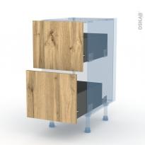 OKA Chêne - Kit Rénovation 18 - Meuble casserolier  - 2 tiroirs - L40xH70xP60